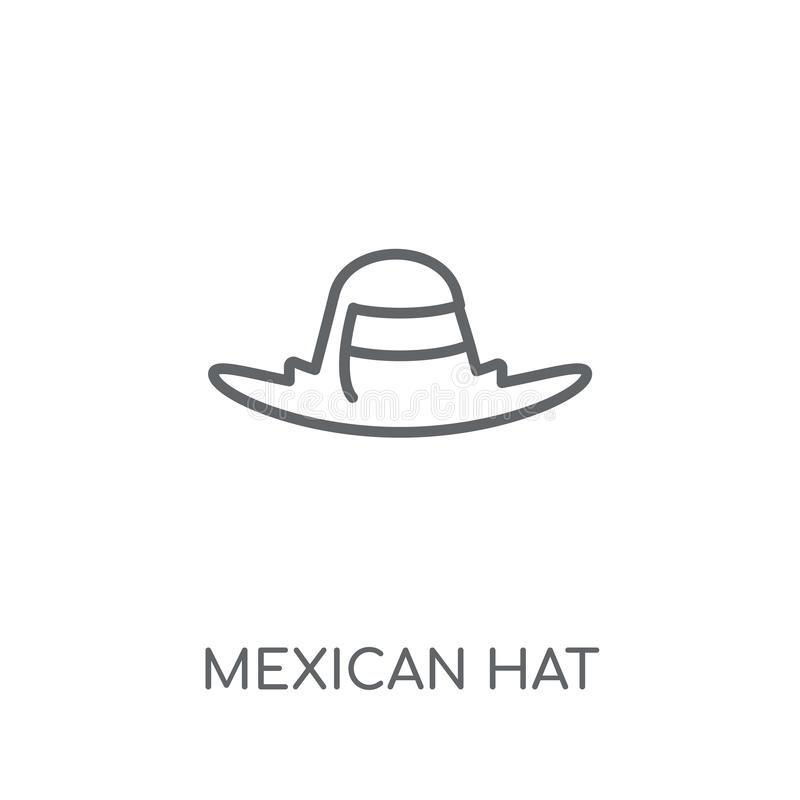 Mexican Hat linear icon. Modern outline Mexican Hat logo concept. On white background from Desert collection. Suitable for use on web apps, mobile apps and vector illustration
