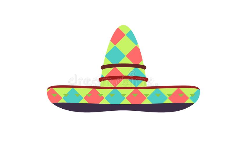 Mexican hat. Icon. Design style on white vector illustration