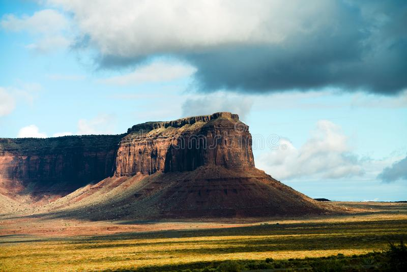 Mexican Hat Monument Valley Utah. Mexican Hat photographed early at Monument Valley Utah. F8 1/250 ISO 100 royalty free stock photos