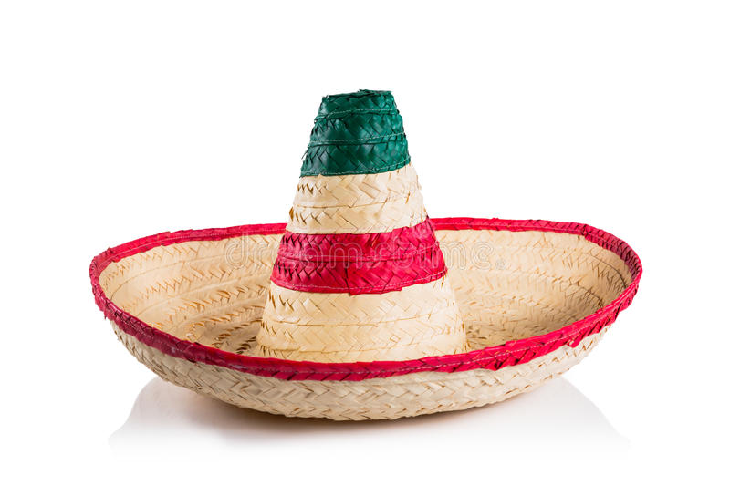 Mexican hat / sombrero isolated on white royalty free stock photography