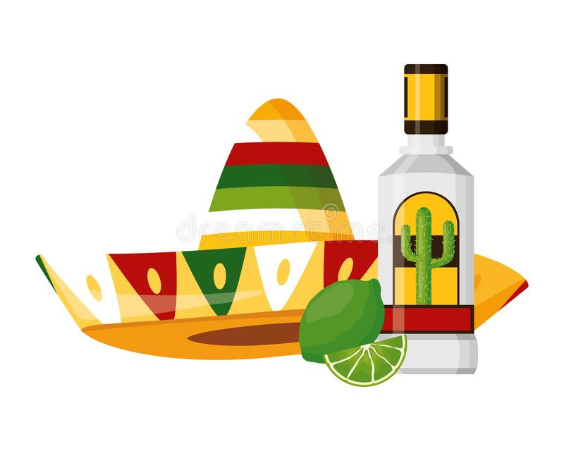Mexican hat tequila. Mexican hat traditional tequila hat vector illustration vector illustration