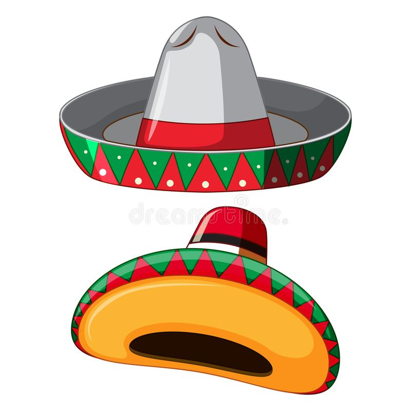 Mexican Hat on White Background. Illustration stock illustration