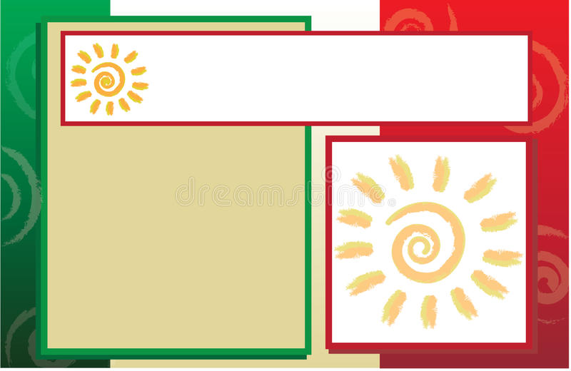 Mexican hispanic border template stock illustration for Mexico brochure template