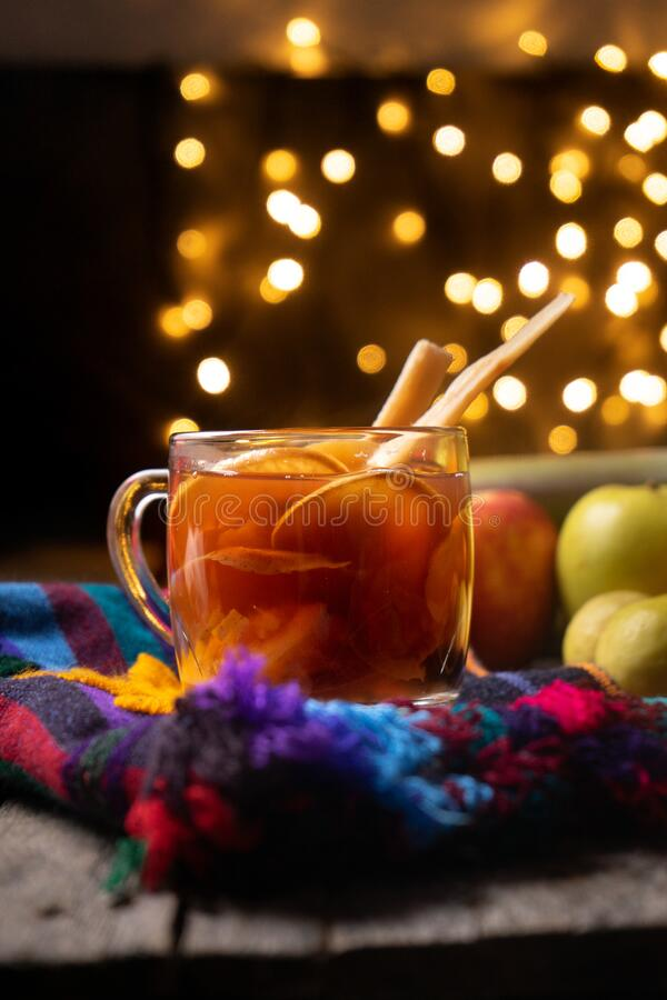 Free Mexican Hot  Christmas Punch Also Called Ponche Stock Photo - 203120480