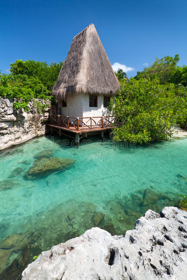 Mexican Jungle Hut Stock Images
