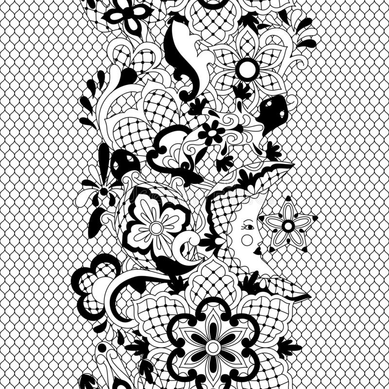 Mexican lace seamless pattern. vector illustration