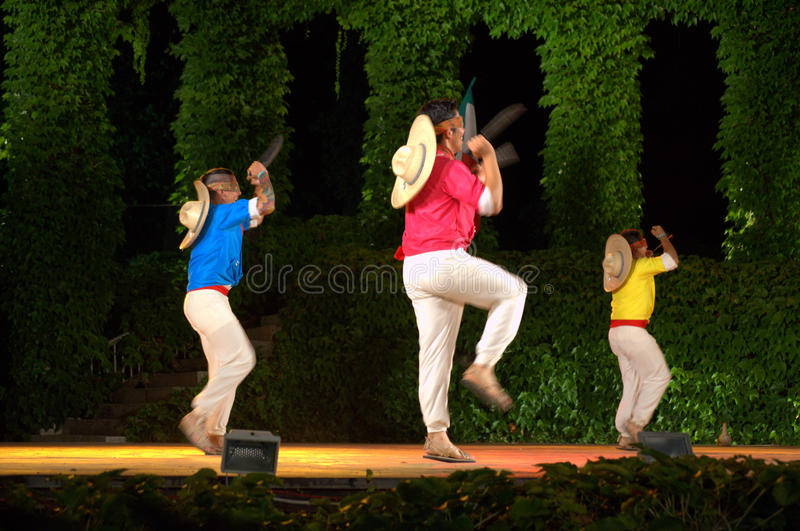Mexican Machete dancers stock photography