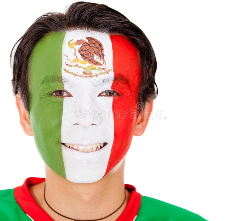 Download Mexican man stock photo. Image of eagle, smiling, bodypaint - 24096054