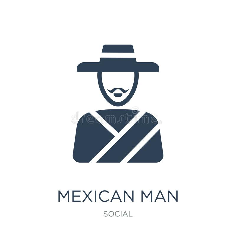 mexican man icon in trendy design style. mexican man icon isolated on white background. mexican man vector icon simple and modern stock illustration