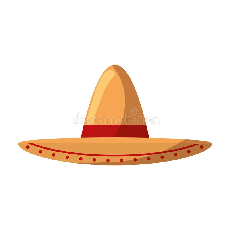 Mexican mariachi hat icon. Vector illustration design royalty free illustration