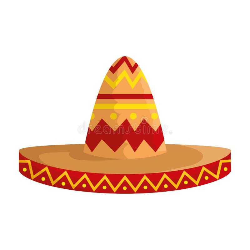 Mexican mariachi hat icon. Vector illustration design stock illustration