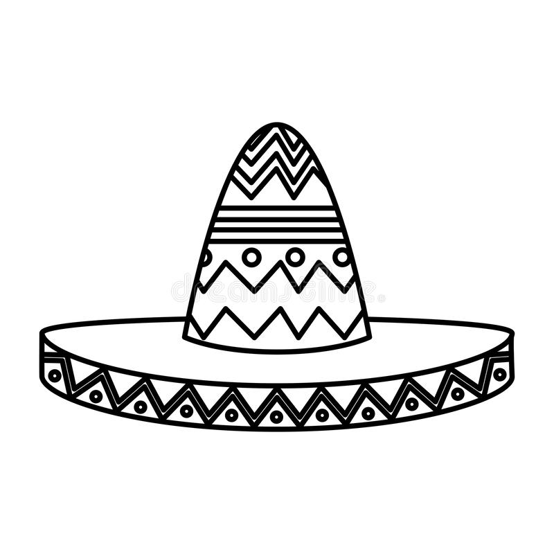 Mexican mariachi hat icon. Vector illustration design vector illustration