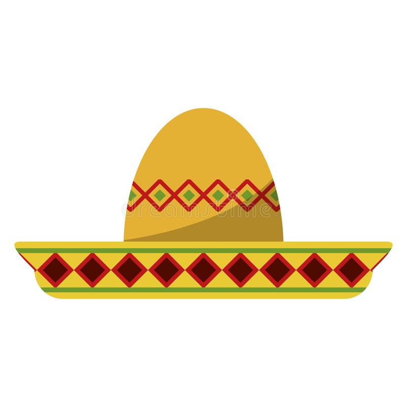 Mexican mariachi hat symbol. Vector illustration graphic design royalty free illustration