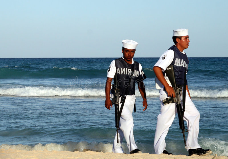 Mexican marines royalty free stock images