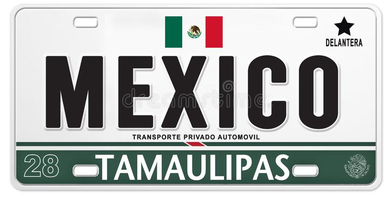 Mexican License Plate Mexico Proud Soccer Football stock illustration
