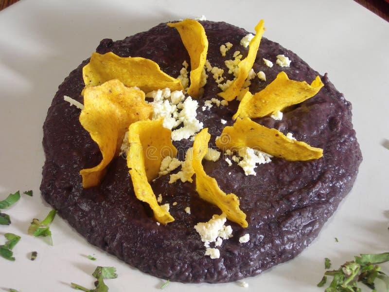 Mexican mole with nachos stock photo