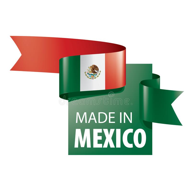 Mexican flag, vector illustration on a white background vector illustration
