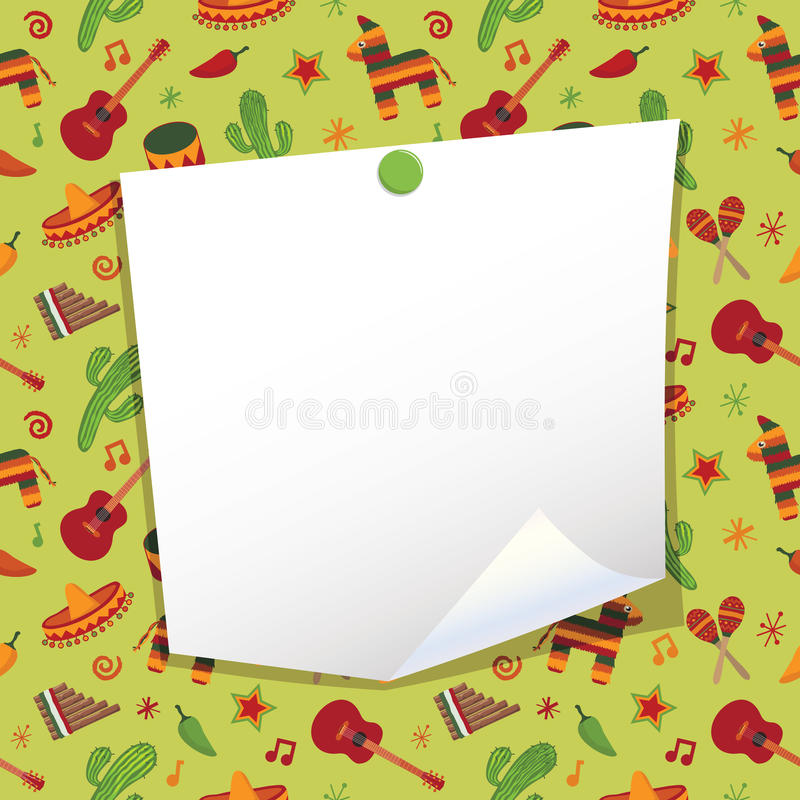 Download Mexican note paper stock vector. Image of ethnic, curl - 26571506