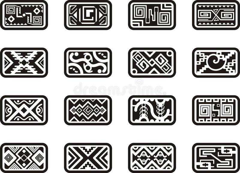 Mexican Ornamental Designs Royalty Free Stock Images