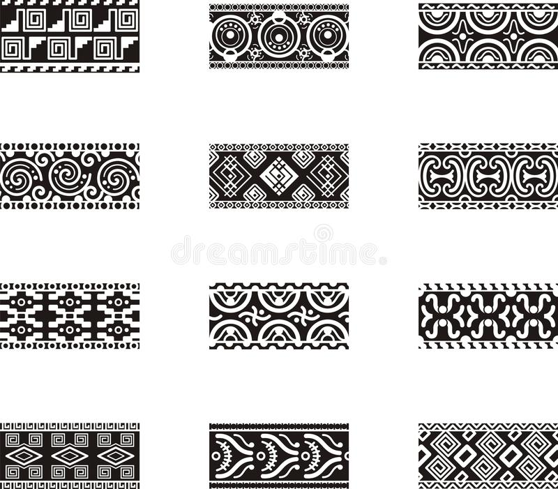 Download Mexican ornamental designs stock illustration. Image of pattern - 17648072