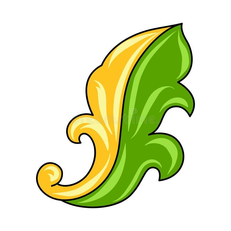 Mexican ornamental leaf. stock illustration