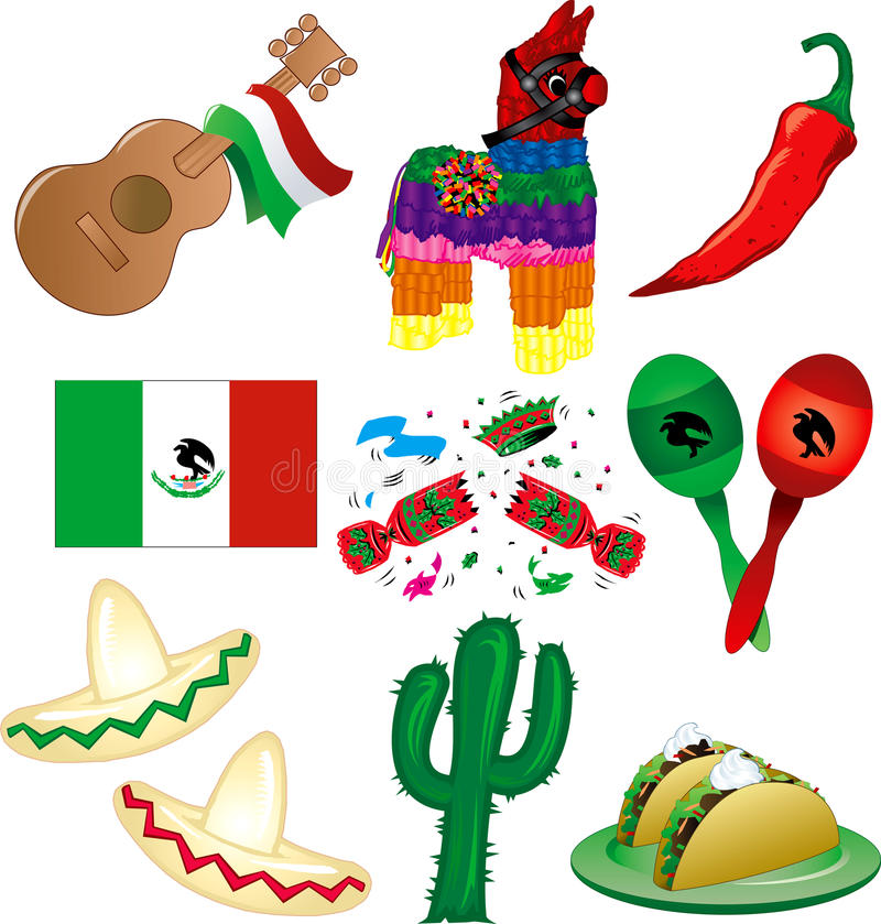 Download Mexican Party stock vector. Illustration of pinata, party - 19619575
