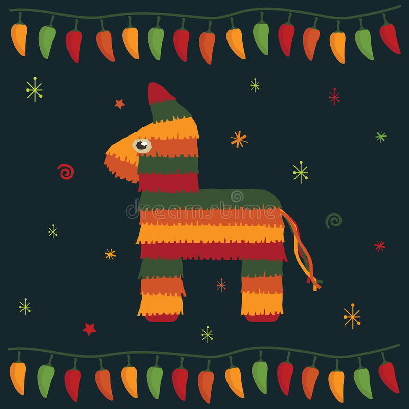 Mexican party stock illustration