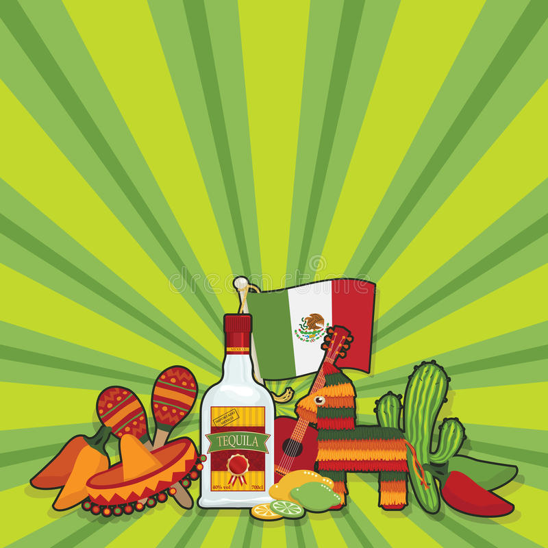 Free Mexican Party Card Royalty Free Stock Photos - 26240408