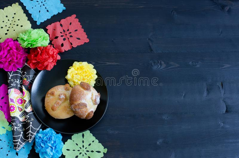 Mexican party, dead bread day of the dead. stock photos