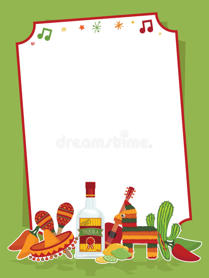 Mexican party sign vector illustration