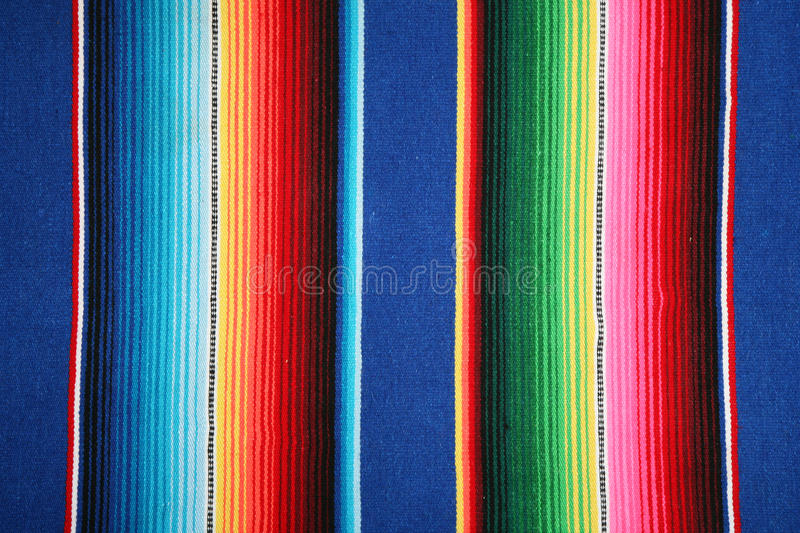 Mexican pattern. Fragment of striped mexican pattern stock photos