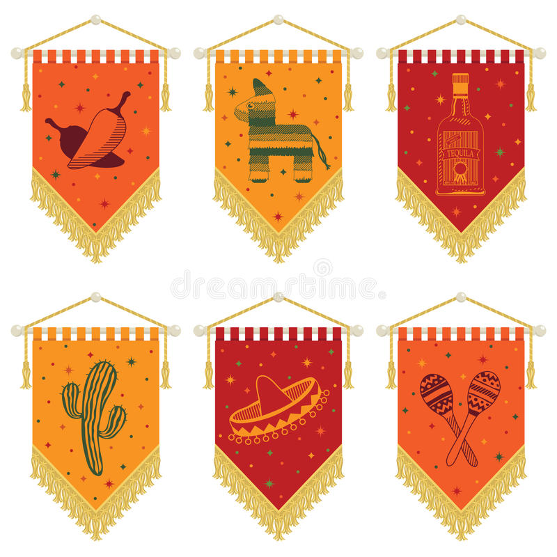 Free Mexican Pennants Stock Photography - 26242132