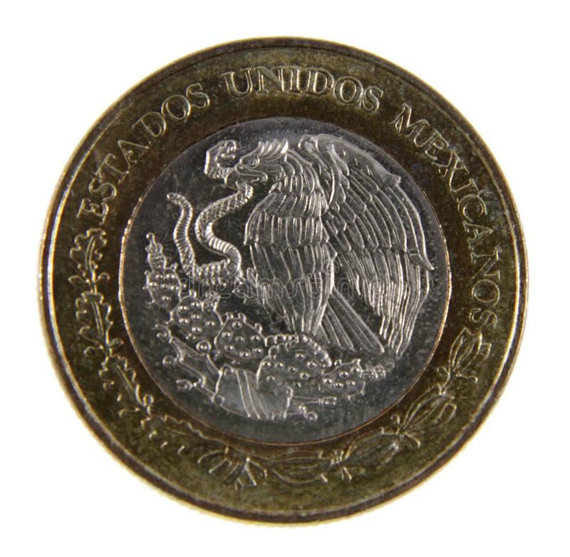 Mexican Peso Close-up royalty free stock photo