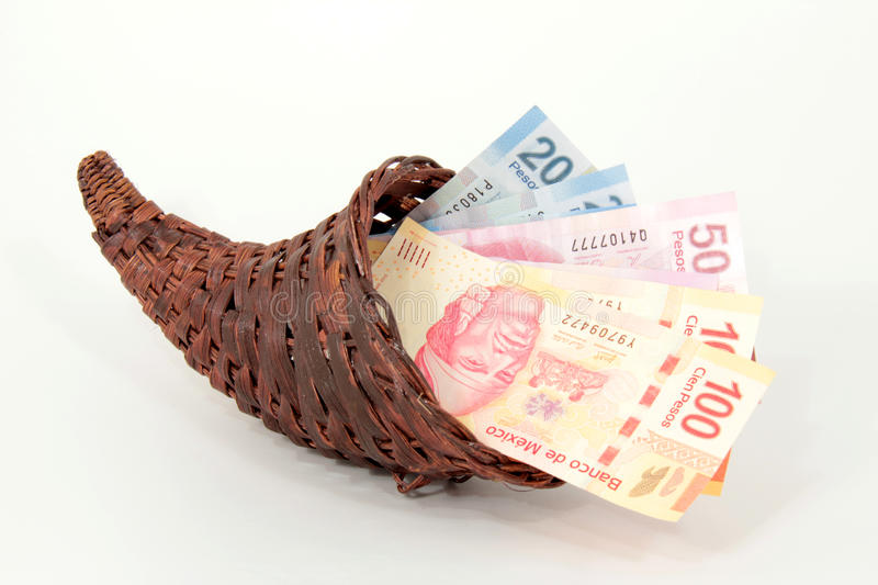 Mexican Pesos Stock Photography