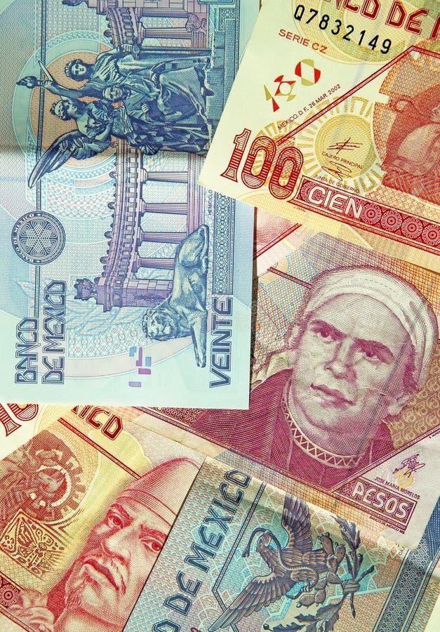 Mexican Pesos de Mexico 2. Various denominations of pesos, money from Mexico, Mexican currency. Banco de Mexico. (macro,14MP camera