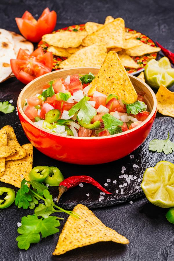 Mexican Pico de Gallo salsa royalty free stock photo