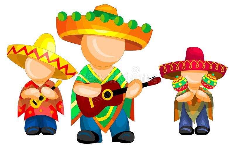 Mexican pop group vector illustration