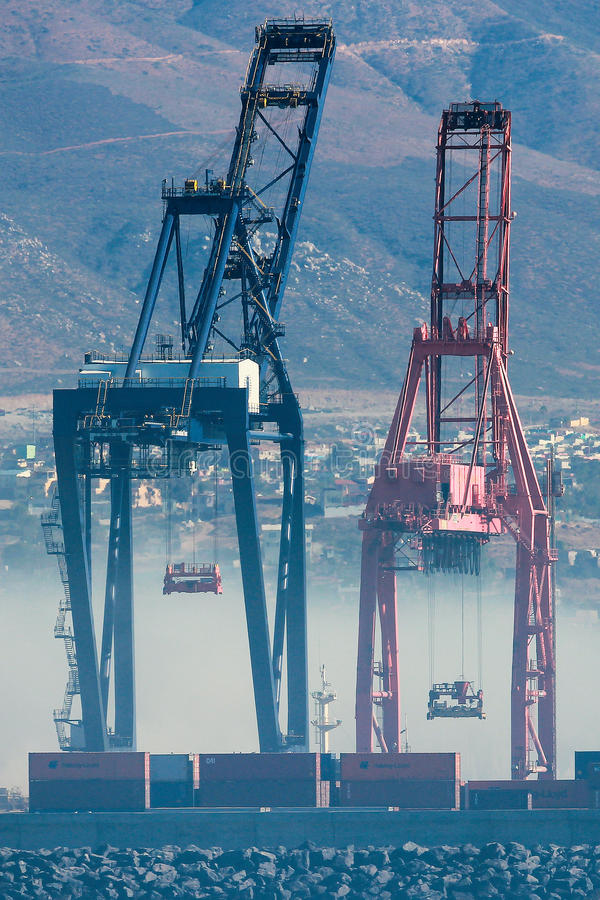 Mexican port of Ensenada stock images
