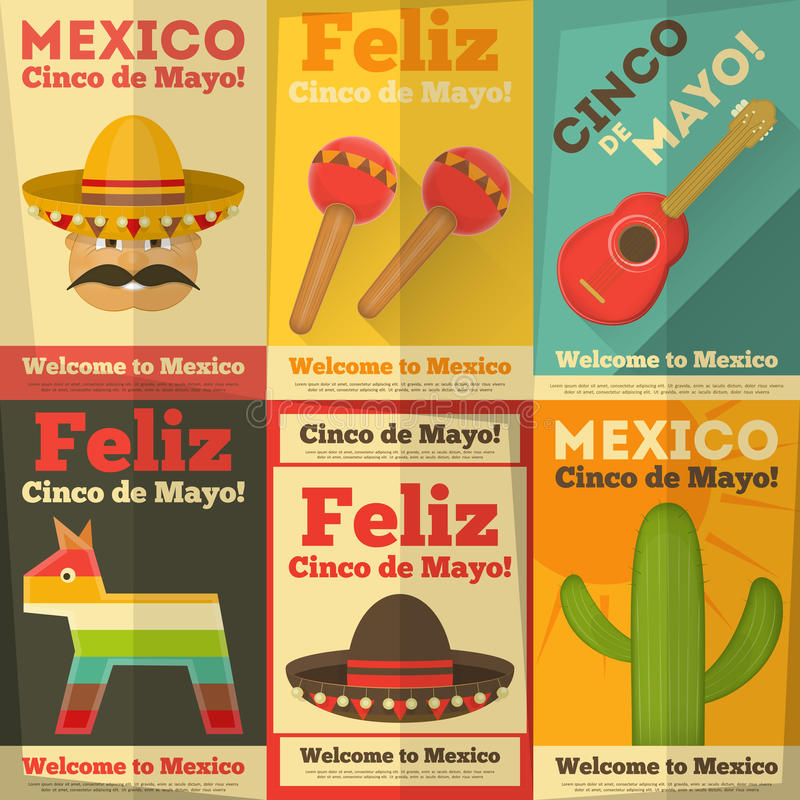 Free Mexican Posters Royalty Free Stock Photo - 39039725