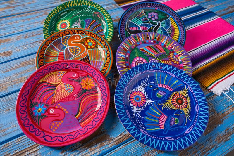 Mexican pottery Talavera style of Mexico. Mexican pottery traditional crafts in Mexico stock photography