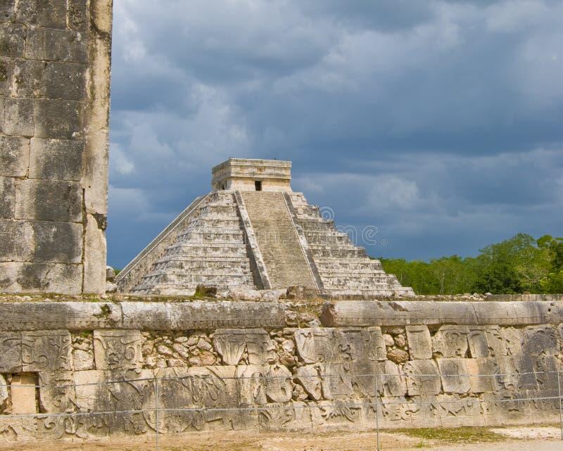 Mexican Pyramid royalty free stock photo