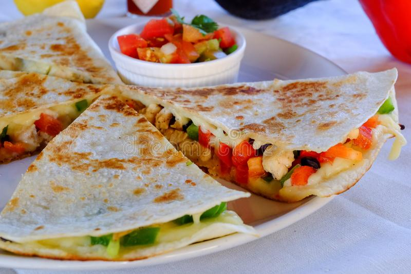 Mexican quesadillas royalty free stock images