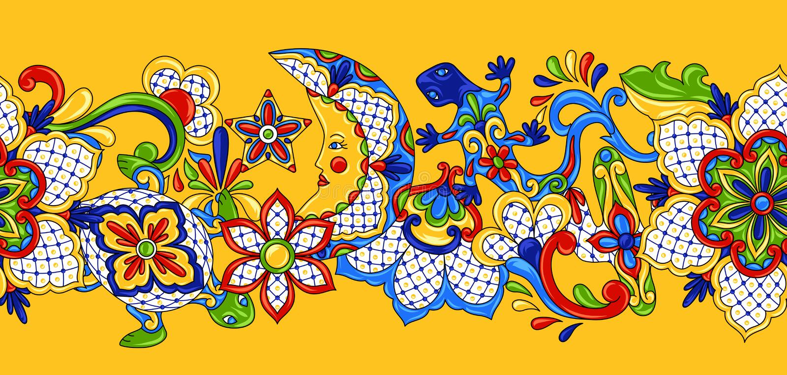 Mexican seamless pattern. vector illustration