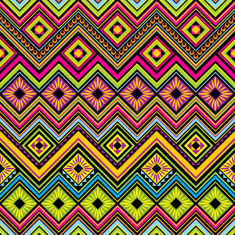 Mexican seamless zigzag background royalty free illustration