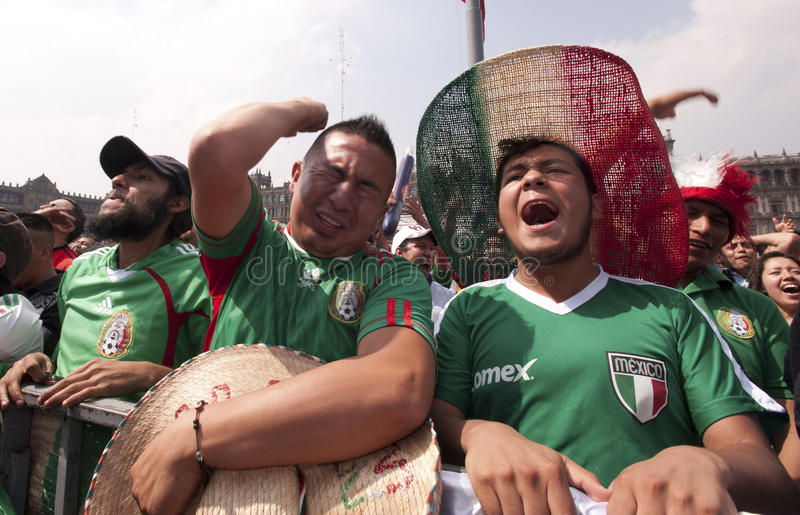 Mexican selection fans stock image