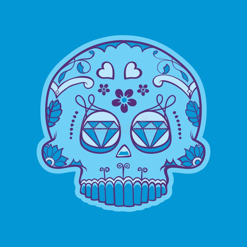 Mexican skull of day of dead stock image