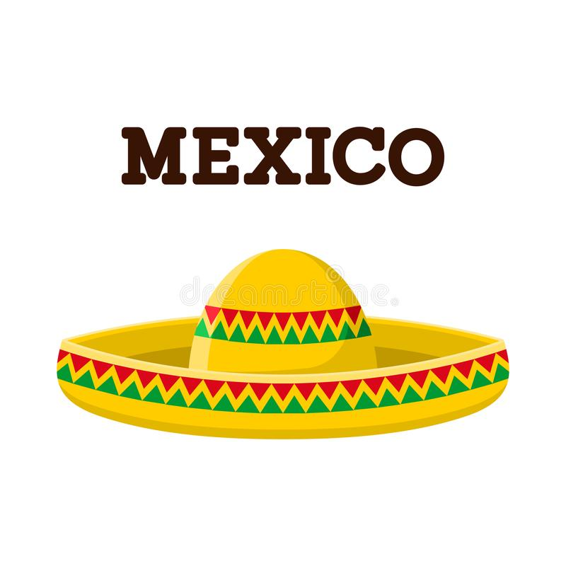 Mexican sombrero. Colorful vector image stock illustration