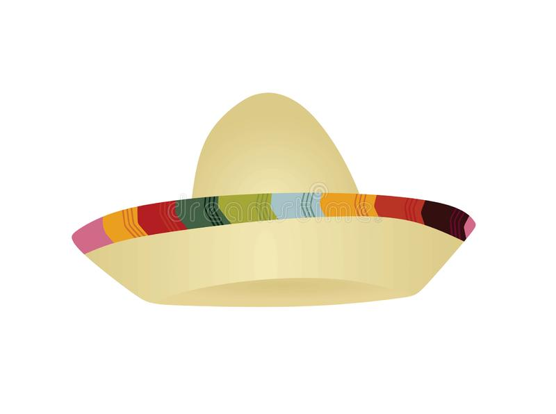 Mexican sombrero hat. Vector illustration royalty free illustration