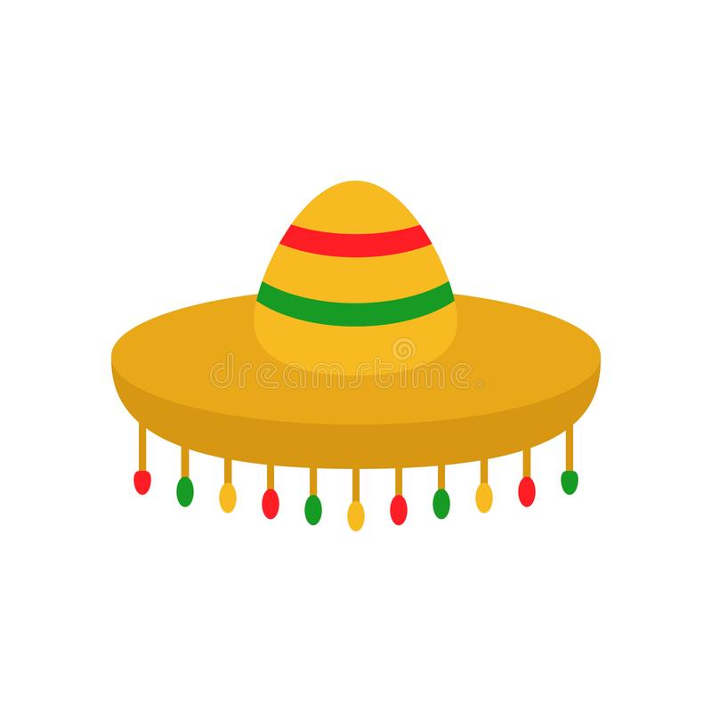 Mexican sombrero hat vector icon vector illustration
