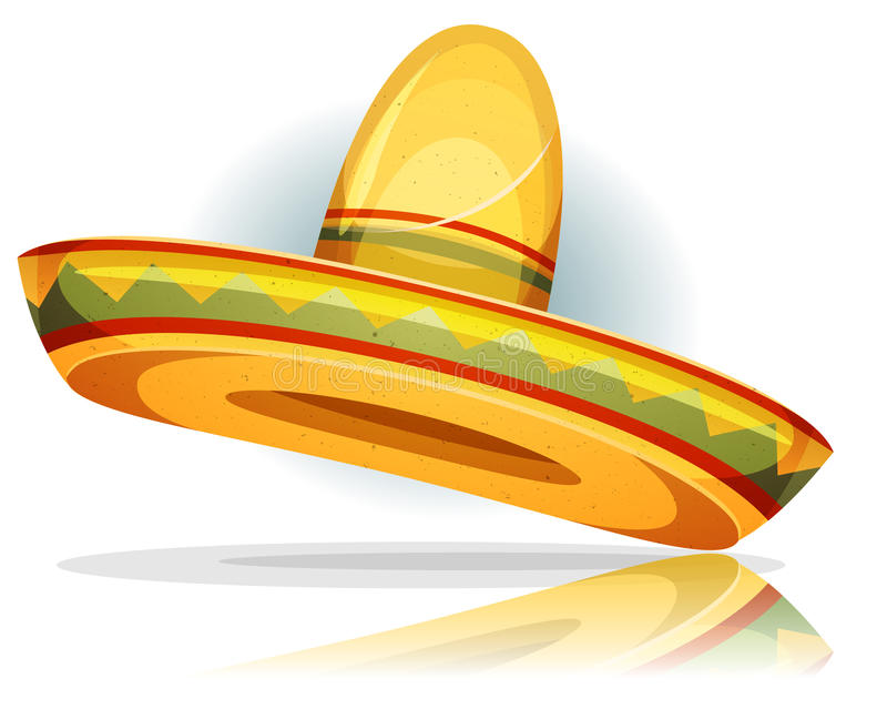 Mexican Sombrero royalty free illustration